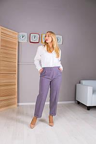 Женские укороченые брюки Зария серая