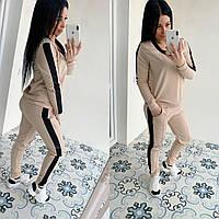 Спортивний костюм жіночий 422 (42-44, 46-48) кольори: бежевий, хакі) СП, фото 1