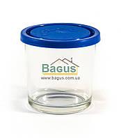 """Ємність (відро, стакан) для продуктів 0,4 л кругла скляна з кришкою """"Igloo"""" Borgonovo 17115427, фото 1"""