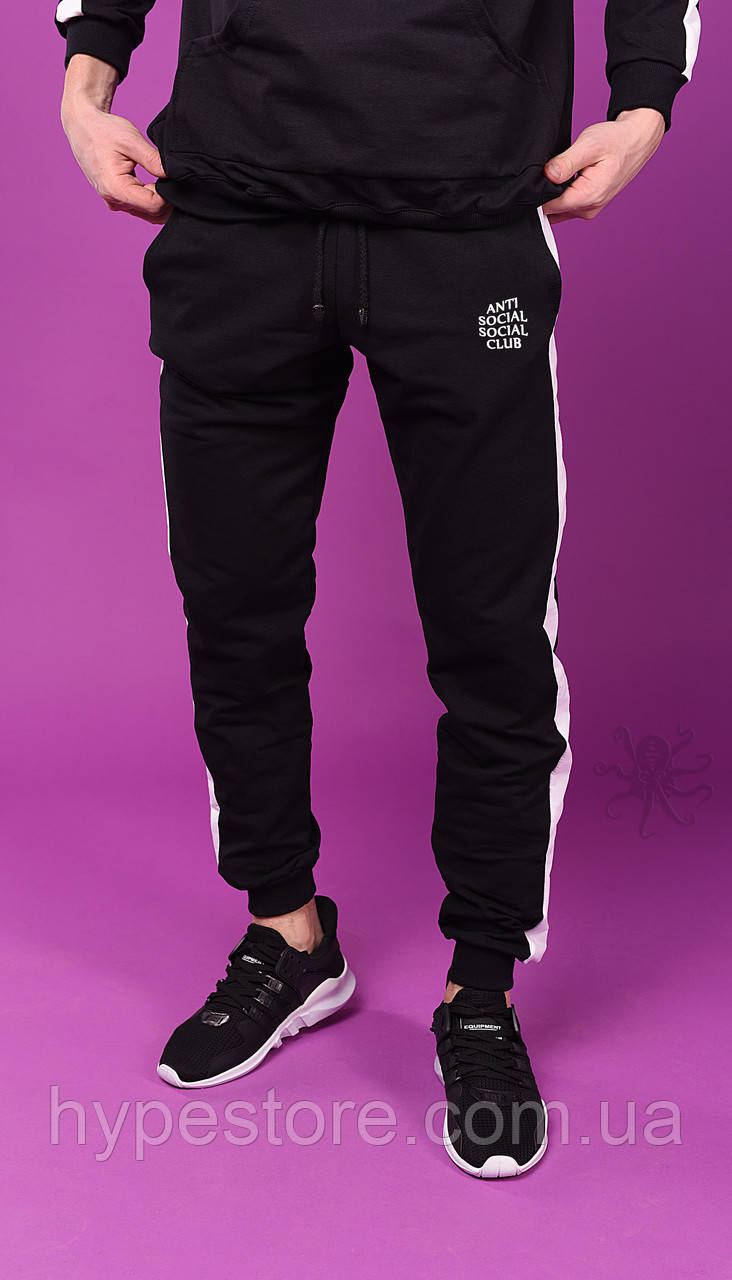 Весенние мужские спортивные штаны с лампасами, штаны с лампасами весна, Anti Social Social Club, Реплика