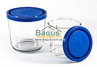 """Набір ємностей (судків, склянок) 2шт. (0,4;0,7 л) круглих скляних з кришками """"Igloo"""" Borgonovo 14064000, фото 1"""