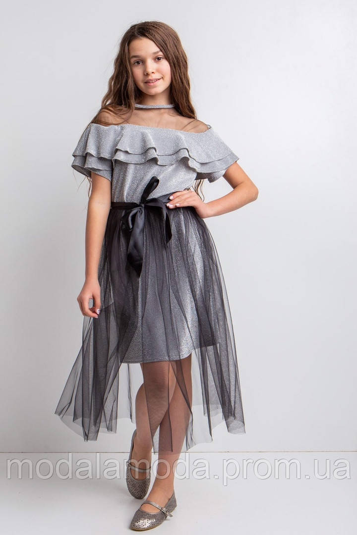 Платье нарядное с фатиновой повязкой