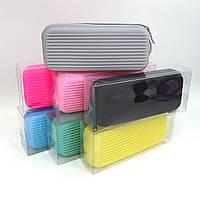P1699 Пенал силиконовый Кейс  20*8*4 см, PVC упаковка, mix, разные  цвета