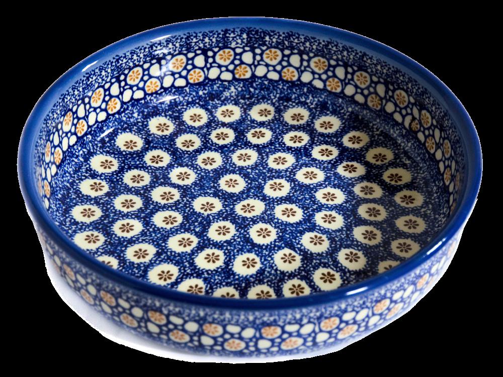 Керамическая форма круглая для выпечки и запекания 24 Морские камушки
