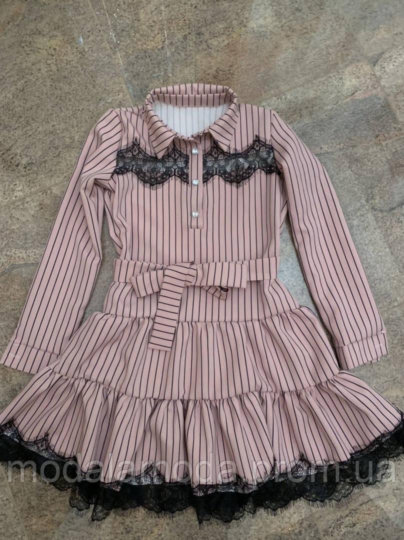 Платье привлекательное в полоску