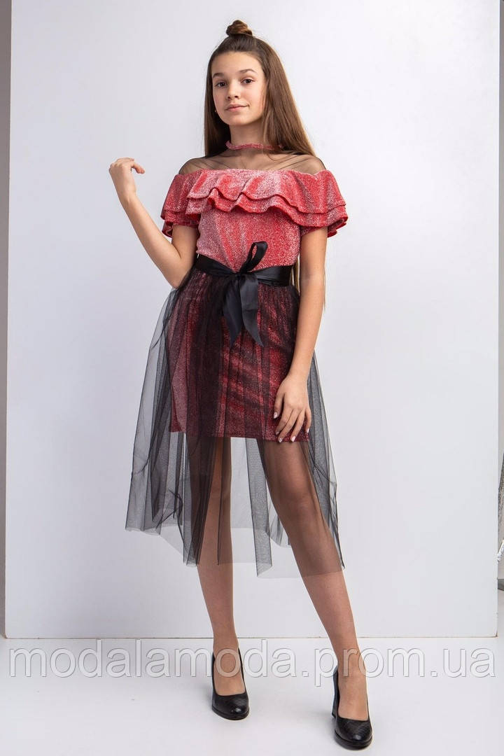 Платье яркое с фатиновой повязкой