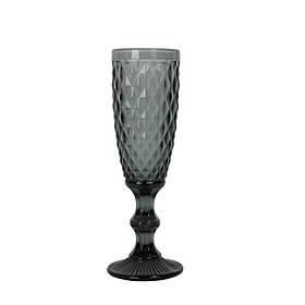 Бокал под шампанское Elegant черный SKL11-209455