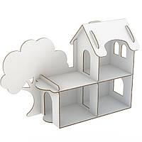 """Ляльковий настільний будинок з балконом картонний 97*38*67 см """"Futufu"""""""