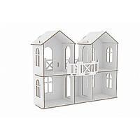 """Ляльковий будинок картонний 99*46*80 см """"Казковий будиночок Барбі"""" """"Futufu"""""""