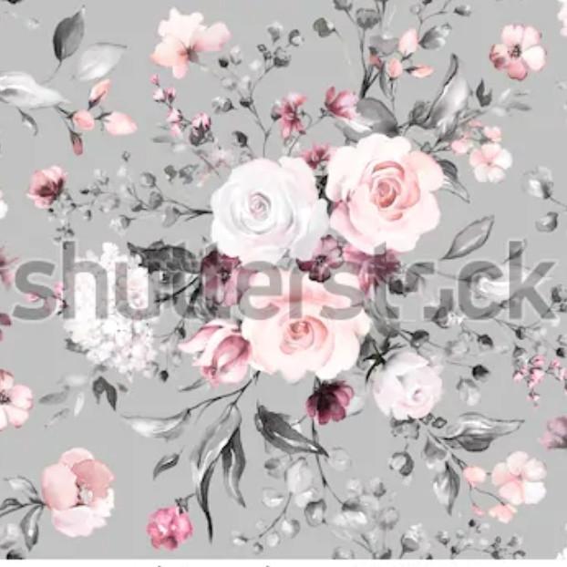 """Плащевая ткань дюспо """"Куст розы"""" - ширина 150 см."""