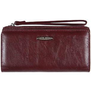 Кожаная женская барсетка-кошелёк KOCHI  с ремешком на руку 190х97х20 цвет темная вишня м К6838-Н09виш, фото 2