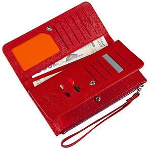 Кожаная красная женская барсетка-кошелёк KOCHI  с ремешком на руку 190х97х20  м К6838-Н09кр, фото 2