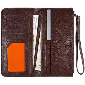 Барсетка шкіряне жіноче-гаманець KOCHI з ремінцем на руку 190х97х20 коричнева м К6838-Н09кор, фото 2