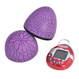 Игрушка электронный питомец Тамагочи в Яйце Динозавра KS Eggshell Game Purple SKL25-150677