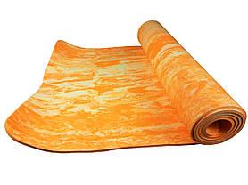 Йогамат універсальний кольоровий / килимок для фітнесу універсальний кольоровий (Violet), фото 2