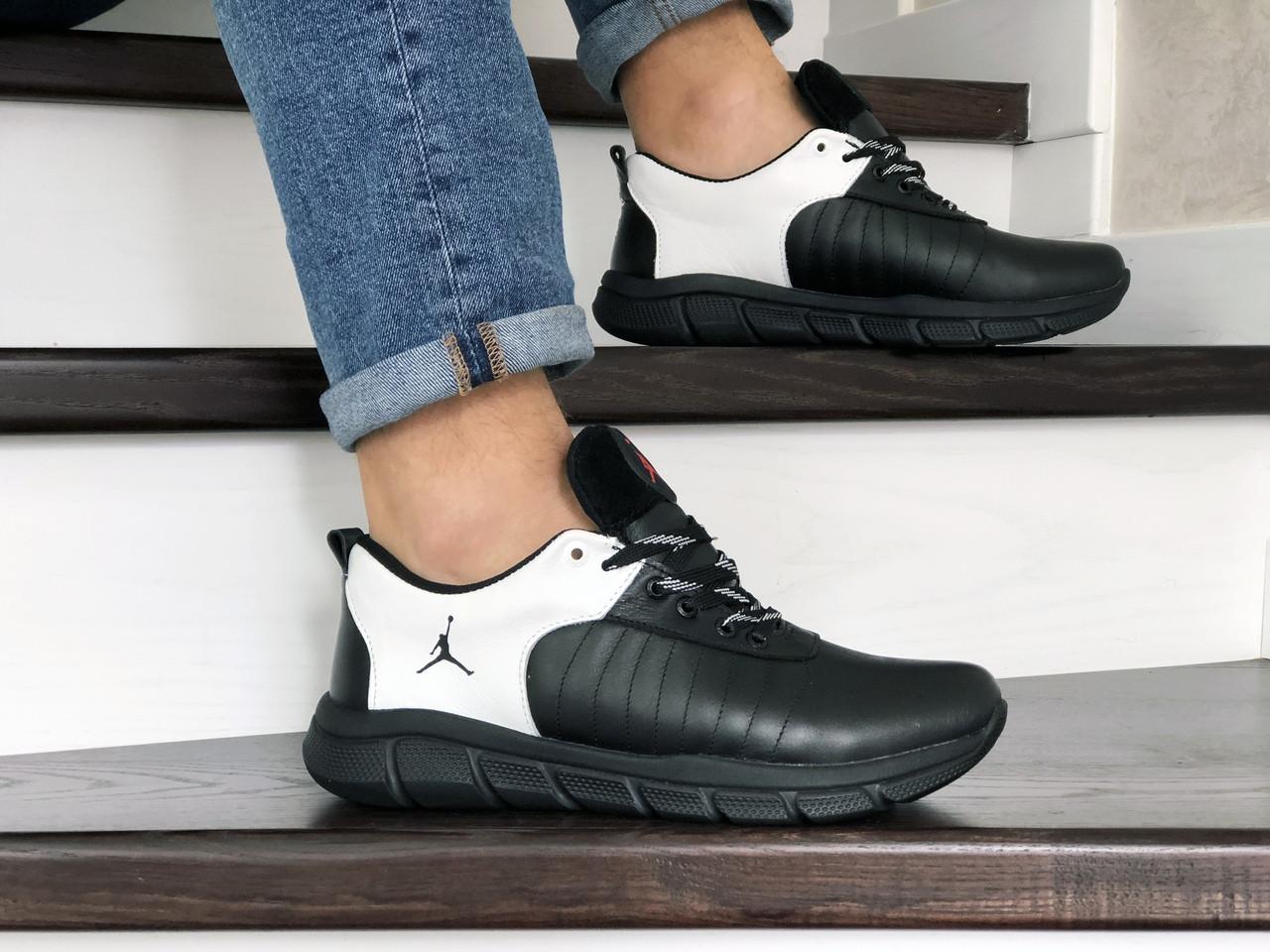 Мужские кроссовки Nike Air Jordan (черно-белые) 9027