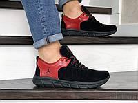 Мужские кроссовки Nike Air Jordan (черно-красные) 9028