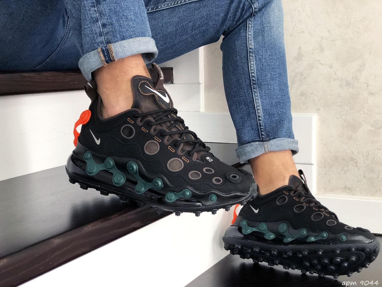 Мужские кроссовки Nike Air Max 720 ISPA (черно-зеленые) 9044