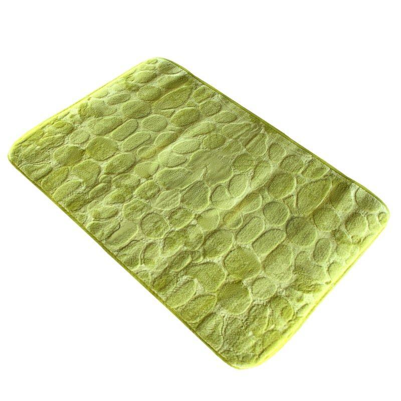 Коврик в ванную комнату Bathlux Green Leaves 10104 антискользящий хлопковый 45х70 см SKL11-132450