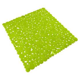 Коврик в ванную комнату Bathlux Green Leaves 40262 антискользящий резиновый 53х53 см SKL11-132569