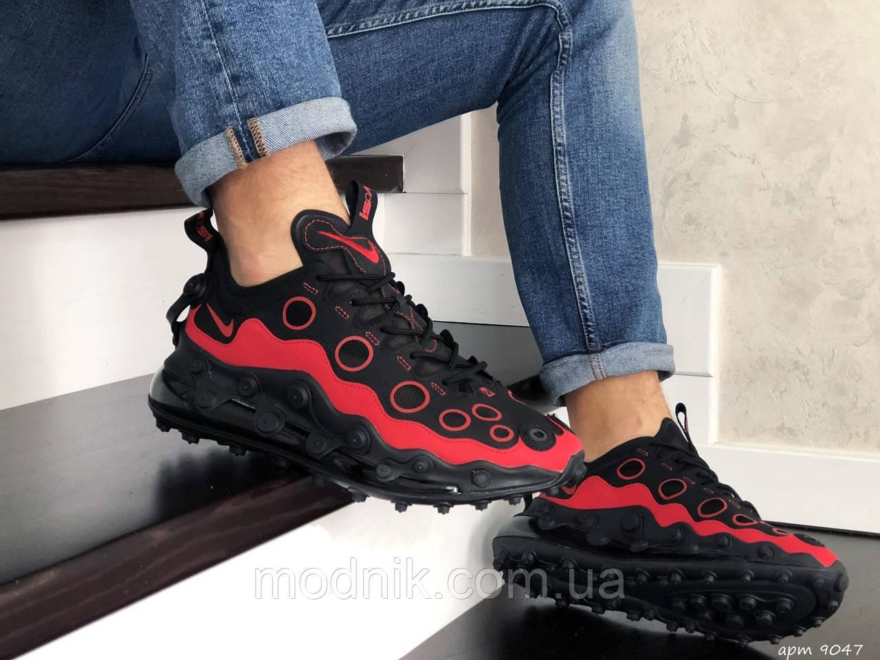 Мужские кроссовки Nike Air Max 720 ISPA (черно-красные) 9047