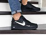 Мужские кроссовки Nike Air Force (черно-белые) 9048, фото 2