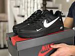 Мужские кроссовки Nike Air Force (черно-белые) 9048, фото 4