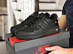Мужские кроссовки Nike Air Force (черные) 9050, фото 2