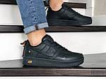 Мужские кроссовки Nike Air Force (черные) 9050, фото 4
