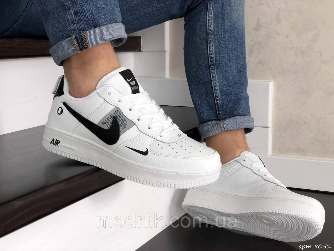 Мужские кроссовки Nike Air Force (белые) 9051