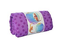 Полотенце для йоги / полотенце для фитнеса (Малиновое), фото 2