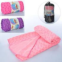 Полотенце для йоги / полотенце для фитнеса (Малиновое), фото 3