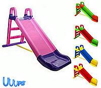 Детская горка ДЛЯ МАЛЕНЬКИХ Фламинго 80*60*147 см Дитяча гірка для катания пластиковая ВСЕ ЦВЕТА