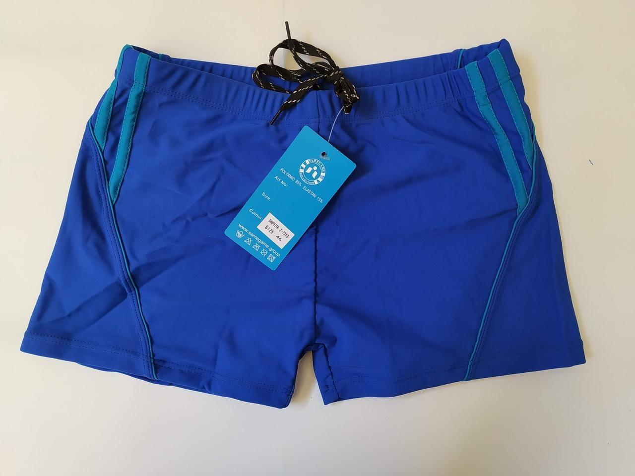 Плавки-шорты 2020 год подросток SAME GAME 7313 электрик с голубым (есть 40 42 44 46 48 размеры) ростовка из одного цвета