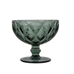 Креманка стекло Rhombus large черная SKL11-209383