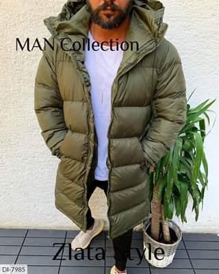 Мужская куртка  зимняя удлиненная с капюшоном. Размеры:44-46