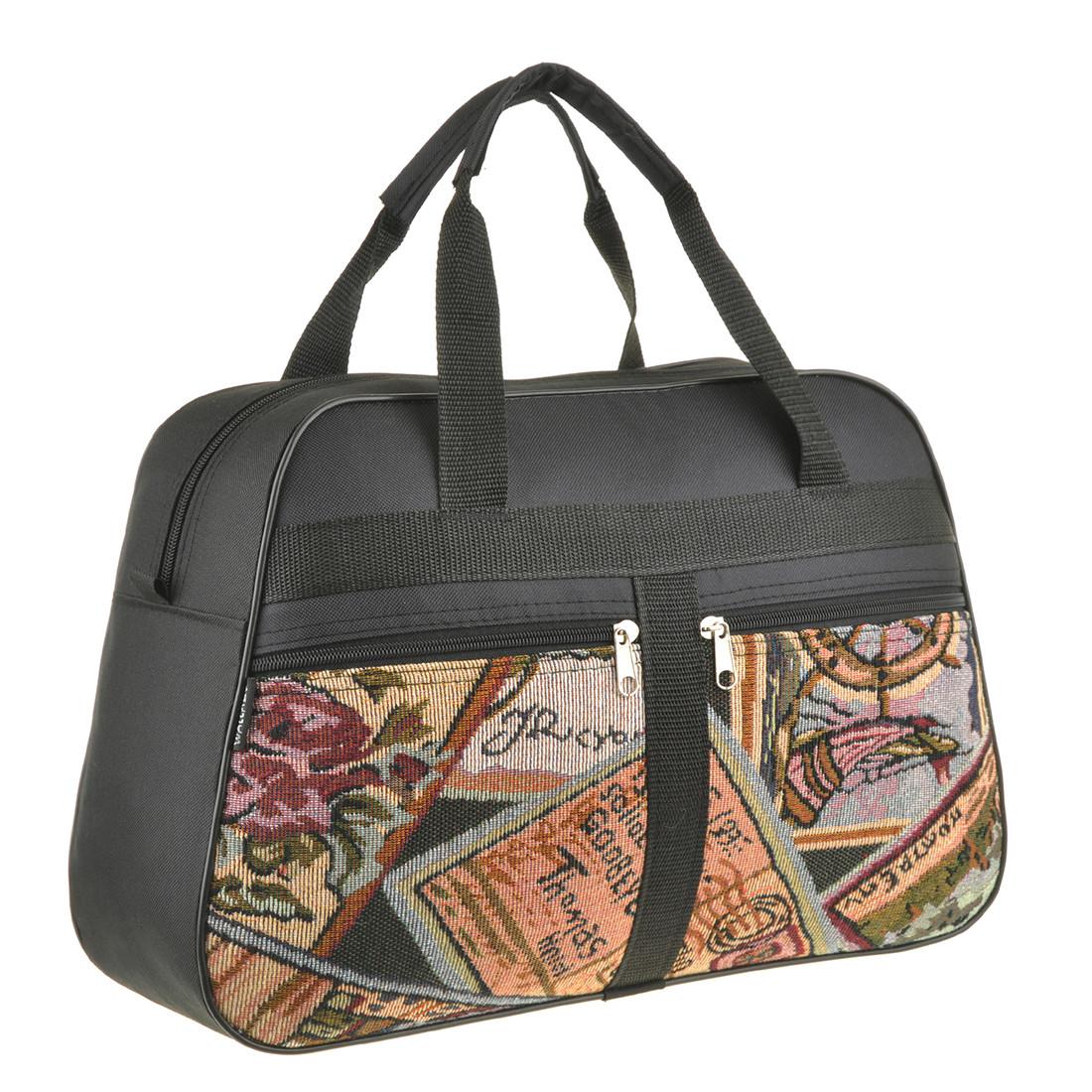 Хозяйственная сумка Wallaby 39х28х12 ткань полиестер на ПВХ основе вставка из гобелена в 270312
