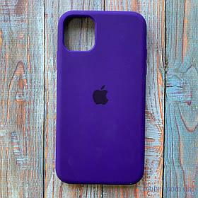 Накладка Apple Silicone Case iPhone 11 {6.1 *} фіолетовий / Purple [копія]