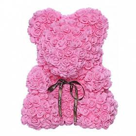 Мишка из роз BB2 розовый SKL25-223388