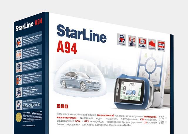 Двухсторонняя сигнализация с автозапуском Starline A94 2 CAN GSM 2SLAVE T 2,0