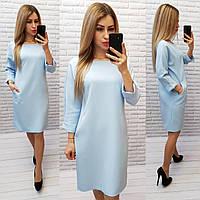 Платье женское, модель 772 голубой / голубое / голубого цвета / нежно-голубой, фото 1