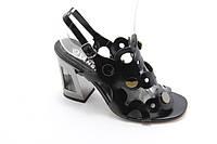 Черные женские босоножки на каблуке Vensi V374