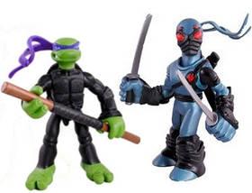 Набор мини-фигурок Донателло и Фут Ниндзя - Donatello and Foot Tech Ninja, 4Kids, 7 см, Playmates SKL14-143185