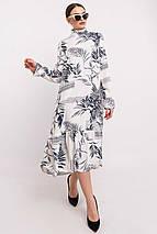 Женское цветочное платье-миди под горло (Рут ri), фото 3