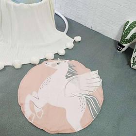 Одеяло коврик в детскую комнату Единорог SKL32-189980
