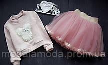 Костюм для девочки с юбкой и кофтой