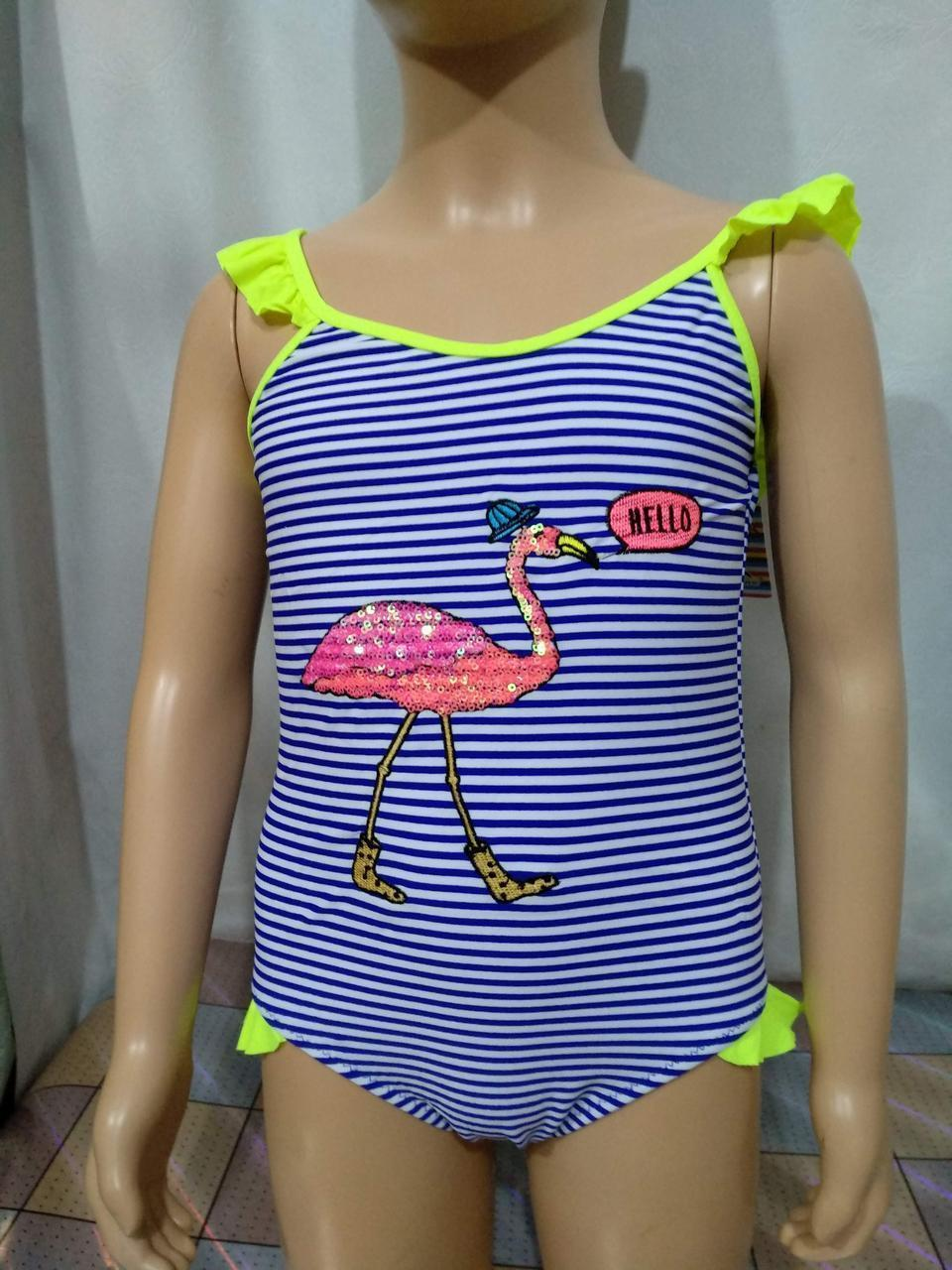 Купальник для девочек SAME GAME Птичка 5070 лимонный (есть 4 6 8 10 12 лет размеры) ростовка из одного цвета
