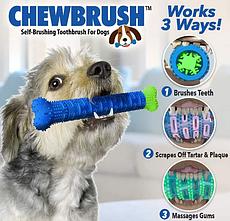 Зубна щітка для собак Сhewbrush | Щітка для чищення зубів собак Сhewbrush | Зубна щітка іграшка для собак