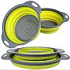 Дуршлаг силиконовый складной большой + маленький Collapsible filter baskets | Складной силиконовый друшлаг, фото 2
