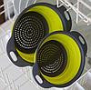 Дуршлаг силиконовый складной большой + маленький Collapsible filter baskets | Складной силиконовый друшлаг, фото 4